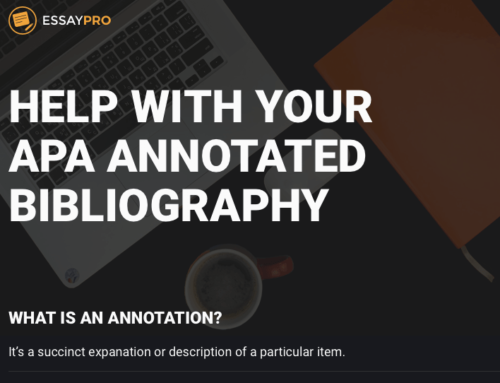 Help With Your APA Annotated Bibliography