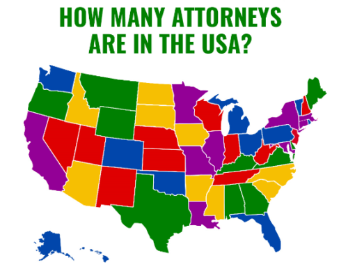 2019 USA Attorney Population Map